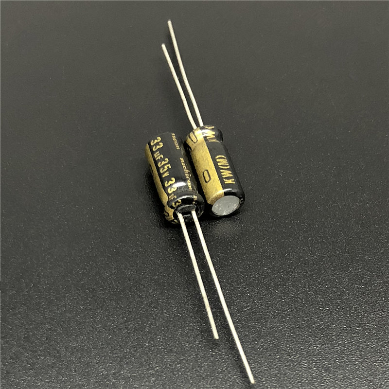 10Pcs 33uF 35V NICHICON KW Series 5x11mm 35V33uF HiFi Audio Capacitor