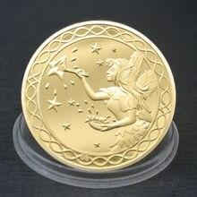 Novo dente fada dinheiro ouro prata chapeado moeda comemorativa criativo crianças mudança de dente presentes moeda lembrança