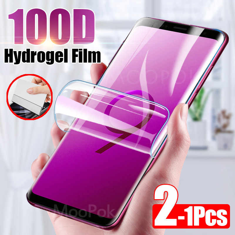 2Pcs 100D Screen Protector For Samsung Galaxy S10 S9 S8 Plus A50 Full Cover Soft Film For Samsung Note 10 8 9 A40 Film Not Glass