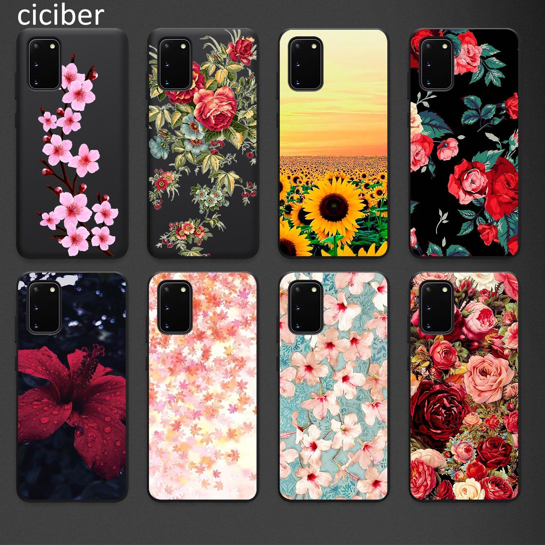 Floral Phone Case for Samsung A50 A40 A70 A51 A71 A20 A20E S10 S20 S9 S8 S7 Edge Ultra Puls Note 10 9 8 Plus Cases Matte Soft