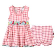 2020 Kavkas Baby Dress For Girl 2020 Summer Red Plaid Sleeve