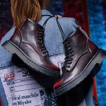 Женские ботинки высокого качества кожаные плюшевые мягкие ботильоны