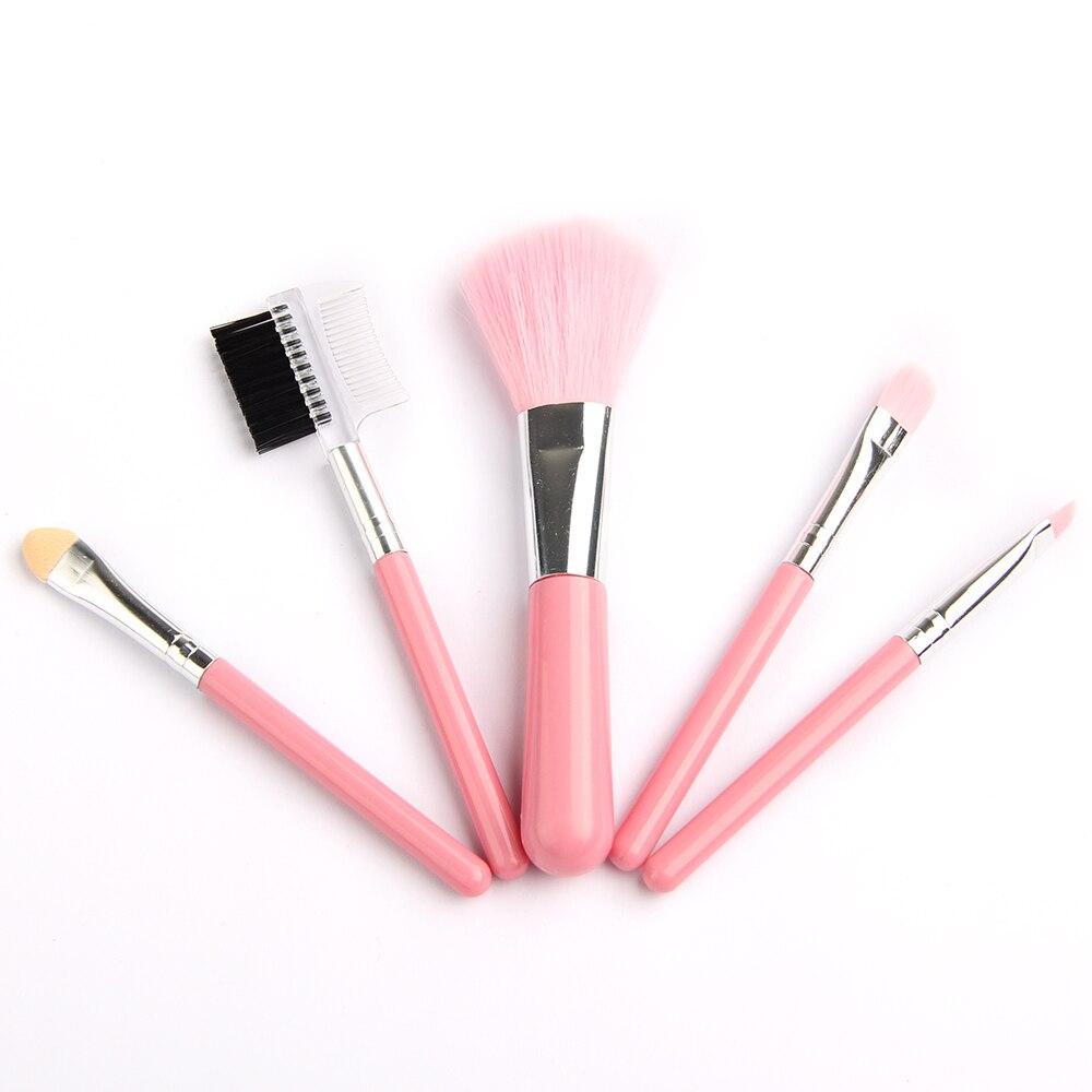 5pcs Makeup Brushes Set Pink Beauty Powder Eye Shadow Brush Soft Hair Cosmetics Makeup Starter Kits Girl Makeup Tools