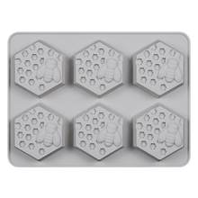 6 Holes Non-Toxic Soft DIY Silicone Soap Mold for Handmade Soap Making Forms 3D Mould Soaps Molds Fun Gifts(China)