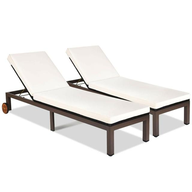 2PCS Chaise Recliner  Lounge Chair  1