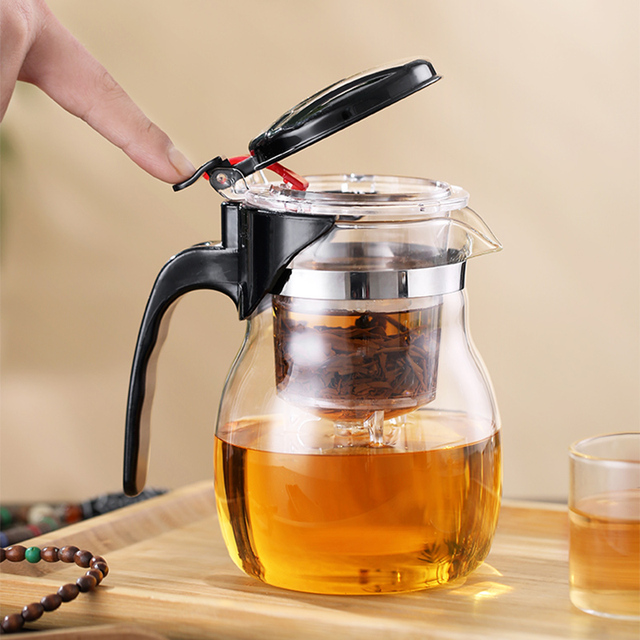 Glass Teapot High quality Heat Resistant Glass Chinese kung fu Tea Set Kettle Coffee Jug Glass Maker Convenient For Office Home 2