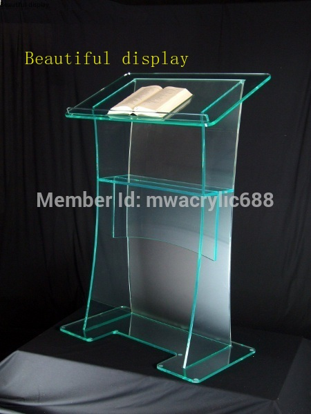 Free Shipping High Quality Fruit Setting Modern Design Cheap Clear Acrylic Lectern Plexiglass