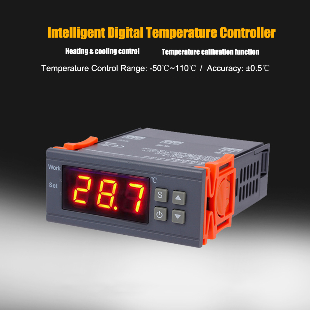 20℃~+100℃ LED Smart Digital thermostat temperature controller High Precision