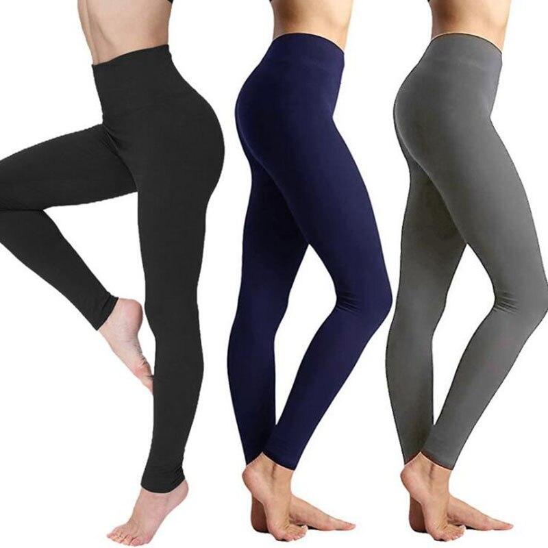 Autumn And Winter Warm Pants Hot Selling High Waist Legging Plain Salad Women Pants Women Winter Leggings 2