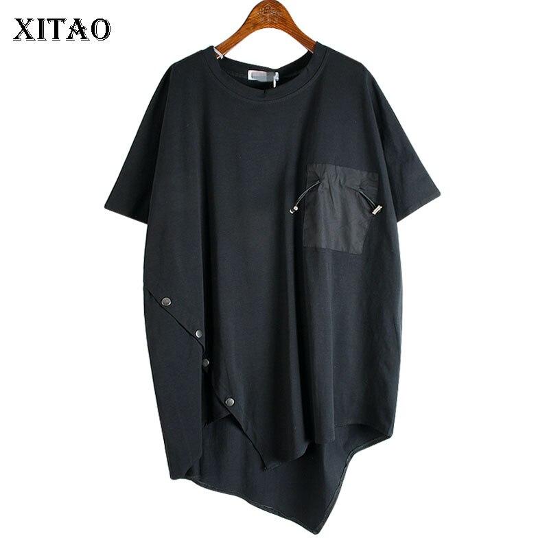 XITAO סדיר מגמת T חולצה אופנה רופפת בתוספת גודל פראי נשים חולצות קצר שרוול חולצת טי Streetwear נשים בגדי DMY4614|חולצות טריקו|   - AliExpress