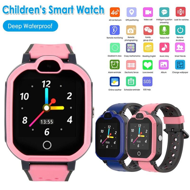 Kids Smart Watch 4G Wifi GPS Tracker Smartwatch Kids 4g Watch Phone Video Call Waterproof Smart Watch for Child Clock Gift 2019