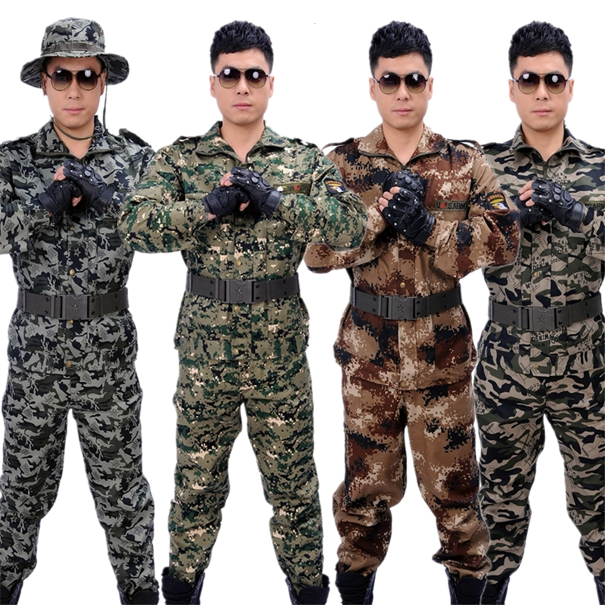 ACU Jacket Tactical Clothing Military Special Forces Camouflage Disguise Jungle&desert Uniform Men Costumes for Women Clothes image