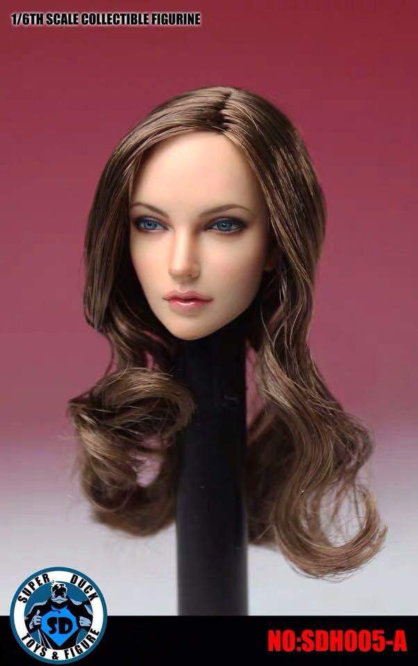 """Image 2 - SUPER DUCK 1/6 European American Female Head Sculpt SDH005 A  For 12"""" PHICEN PALE FigureAction & Toy Figures   -"""