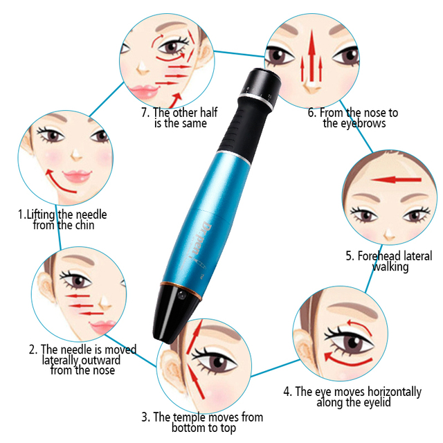 Electric Dr.pen Pen Micro Skin Care Dr.Pen Ultima A1-W Permanente Microblading Tattoo Needles Makeup Machine Eyebrows Eyeliner 4