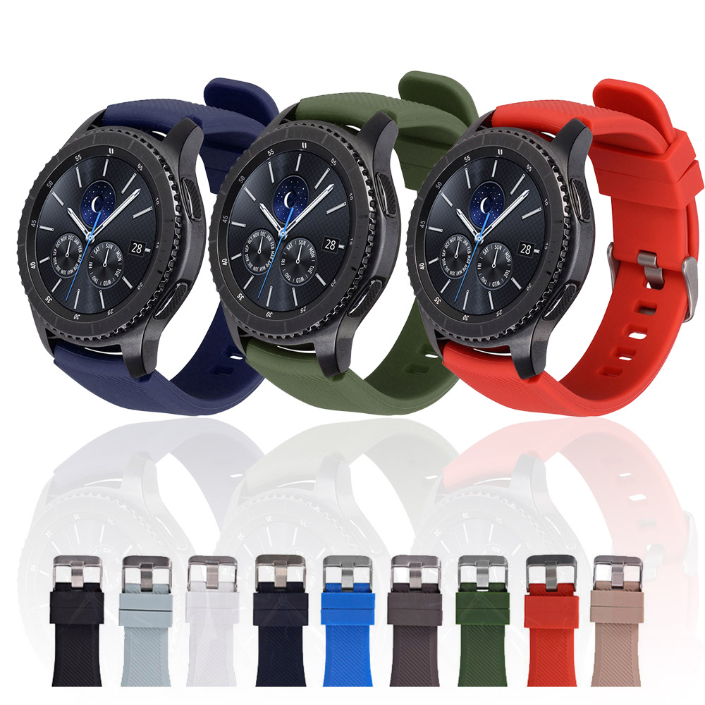 Galaxy Watch 46mm 42mm Strap For Samsung Gear S3 Frontier Band 20mm 22mm Silicone Watchband Bracelet Huawei Watch GT Strap S3