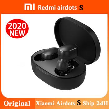 Oryginalny Xiaomi Airdots S Tws Redmi Airdots Pro 2 słuchawki bezprzewodowe słuchawki Bluetooth 5 0 zestaw słuchawkowy do gier z mikrofonem sterowanie głosem tanie i dobre opinie Proso tłokowe Ucho NONE Dynamiczny CN (pochodzenie) Prawda bezprzewodowe 92dB 60mW Instrukcja obsługi Etui do ładowania