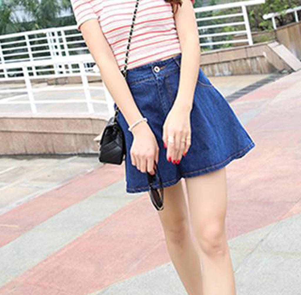 Summer High Waist Mini Shorts Loose Chic Style Blue Denim Shorts For Women Wide Leg Short Jeans Womens Vaqueros Mujer#Z30