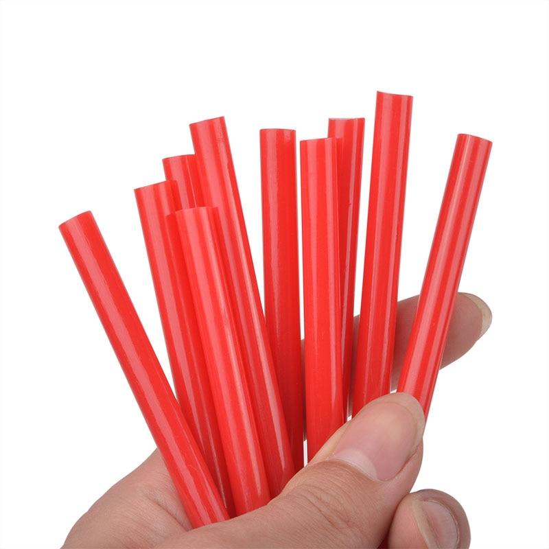 10Pcs Red 7x100mm Hot Melt Glue Sticks Red For 7mm Electric Glue Gun Craft Home DIY Hand Tool Repair Adhesive Sealing Wax Stick