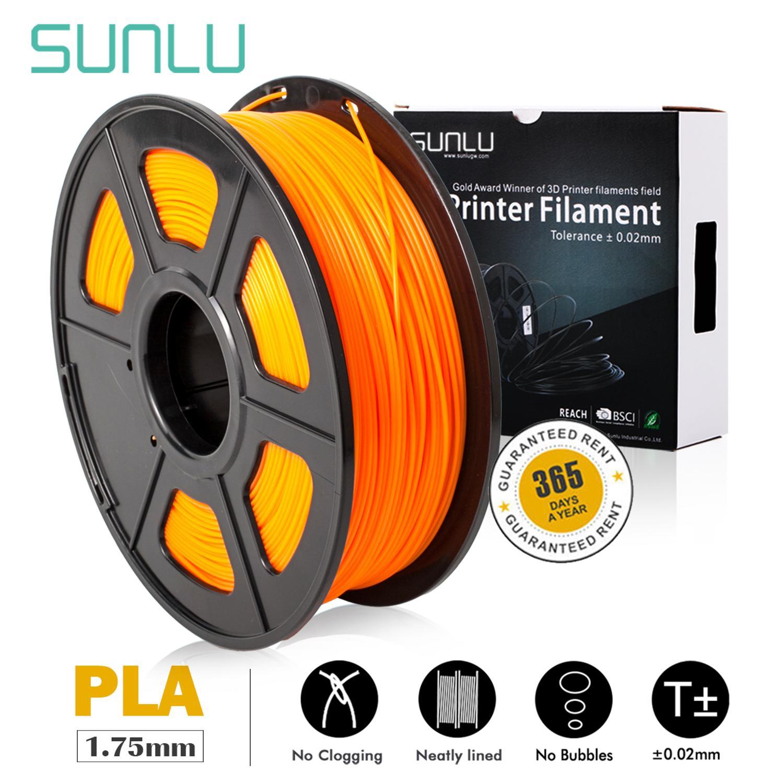 SUNLU impresora 3D filamento PLA naranja 1,75mm 1KG/bobina precisión Dimensional +/-0,02mm Material PLA Color marrón KIT de actualización PLA 2,0 Asistente de estacionamiento frontal 4K a 12K para VW Tiguan 5N 3AA 919 475 M/S