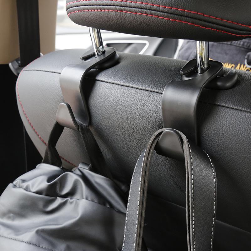2 pièces portant 20kg voiture crochet siège crochet SUV siège arrière appuie-tête cintre crochets de rangement pour épicerie sac sac à main Auto Products