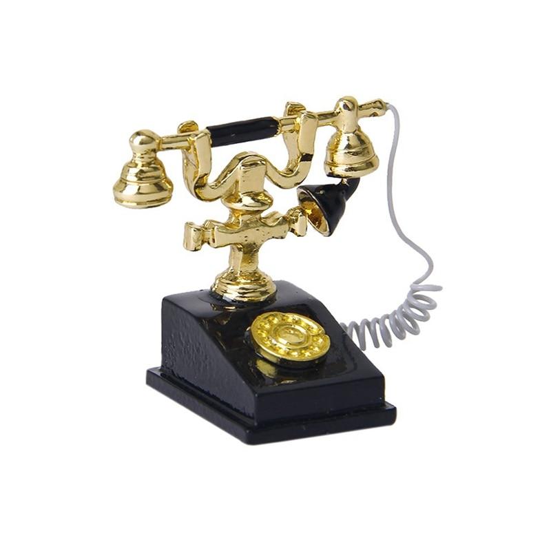 1/12 Dollhouse Miniature Retro Phone Vintage Phone
