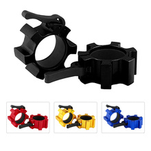 Barbell Collar Lock Weight-Lifting Olympic 50mm Clips-Clamp Body-Building Gym Fitness