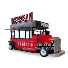 Beautiful 5.5m long electric food truck customized booth kiosk ice cream food cart(China)