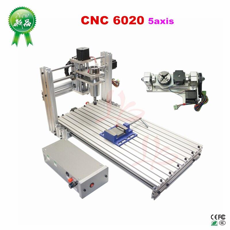 Bricolage CNC 6020 fraiseuse sculpture port usb 4 axes 5 axes routeur pour le travail du bois pcb gravure vis à billes et contrôleur Mach3