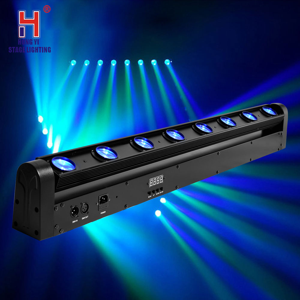 Stage Light 8*12w Beam Led RGBW Bar Washer Light Moving Head Light DMX 512 10/38Channel DJ Show Lighting Equipment
