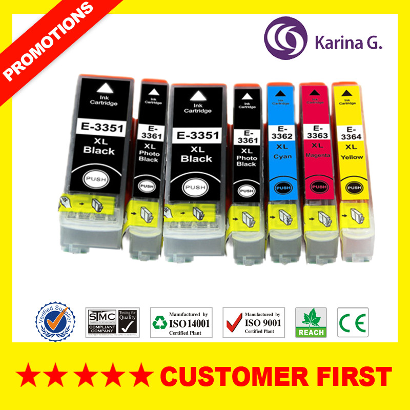 33XL T3351 T3361 - T3364 Compatible Ink Cartridge For Epson XP-530 XP-630 XP-635 XP-830 XP-540 XP-640 XP-645 XP-900 Etc.