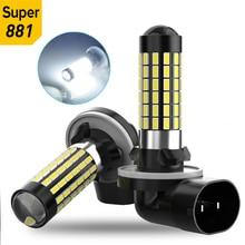 2x H27 H27W/2 881 1200LM Canbus Led Fog Lights H1 H3 880 Led Fog Lamps Driving Running Lamps 78SMD 3014 White 12V