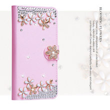 Women 3D Rhinestone Diamond+Flip Leather Wallet Phone Cover Case For LG V10 V20 V30 V40 G3 G4 G5 G6 G7 G8 Q6 Mini Q8 K40 K50(China)