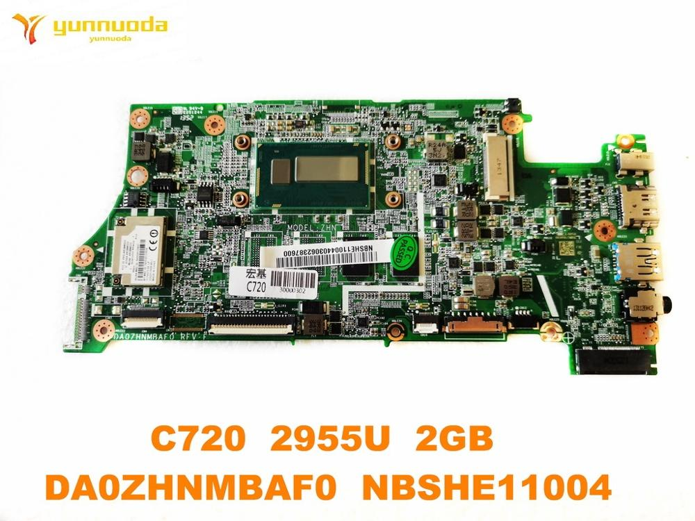 Original For ACER C720 Laptop Motherboard C720  2955U  2GB  DA0ZHNMBAF0  NBSHE11004 Tested Good Free Shipping
