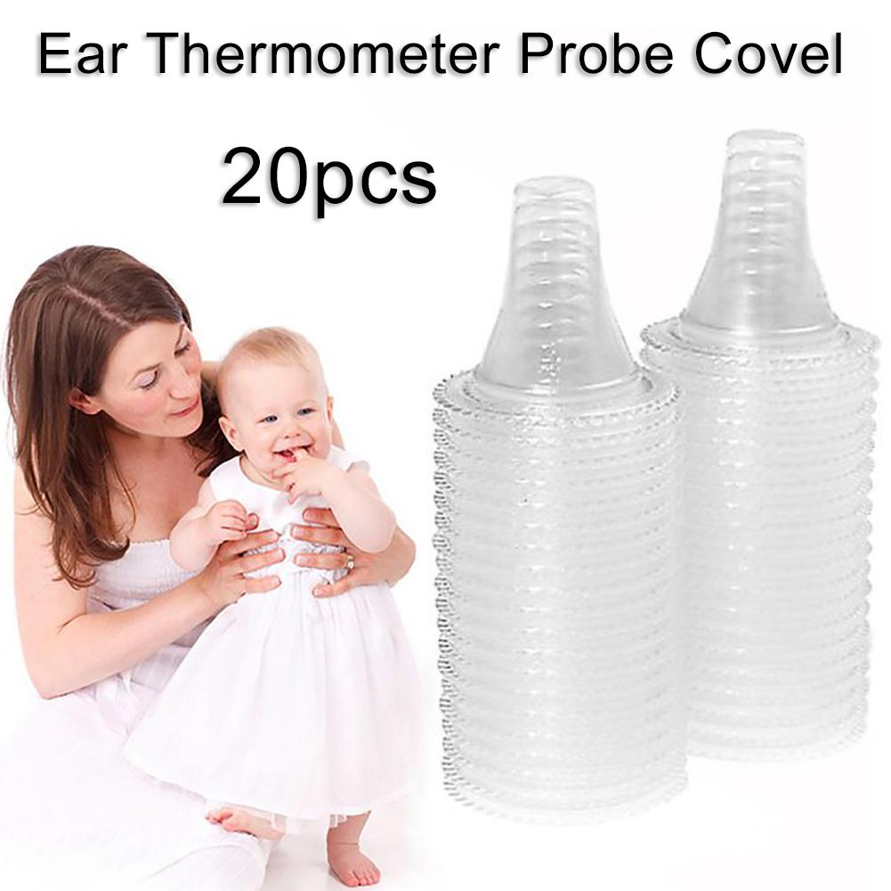 20Pcs Disposable Ear Thermometer Covers Soft  Thermometer Replacement Covers Earmuffs Non Contact Ear Thermometer Probe Cover