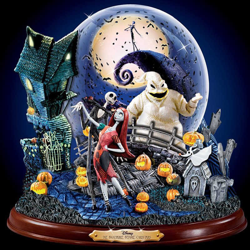 5D Persegi Lukisan Berlian Bulat Diamond Bordir Cross Stitch Nightmare JACK & Sally Mosaik Dekorasi Rumah