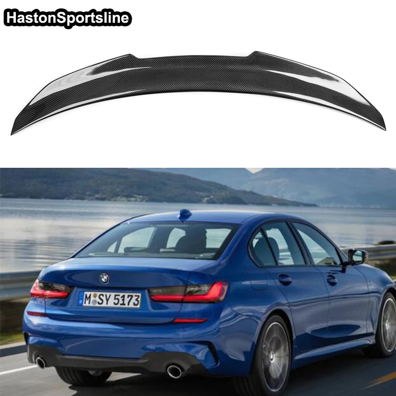 For BMW G20 3 Series Performance style spoiler carbon fiber rear trunk Wing for BMW G20 2018up