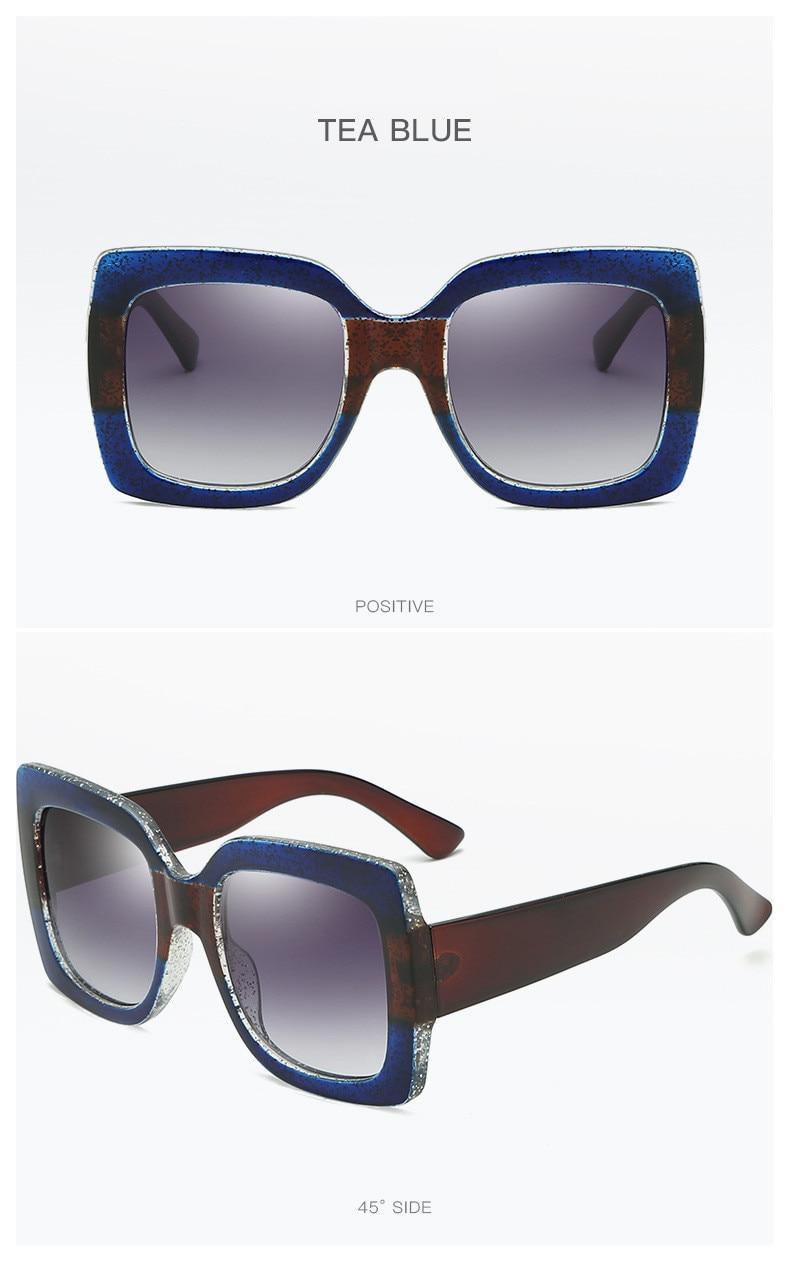 Luxury Brand Designer Square Sunglasses Shades For Women Vintage Women's Sun Glasses Cool Retro 2021 Trends Sunglasses Female gg (15)