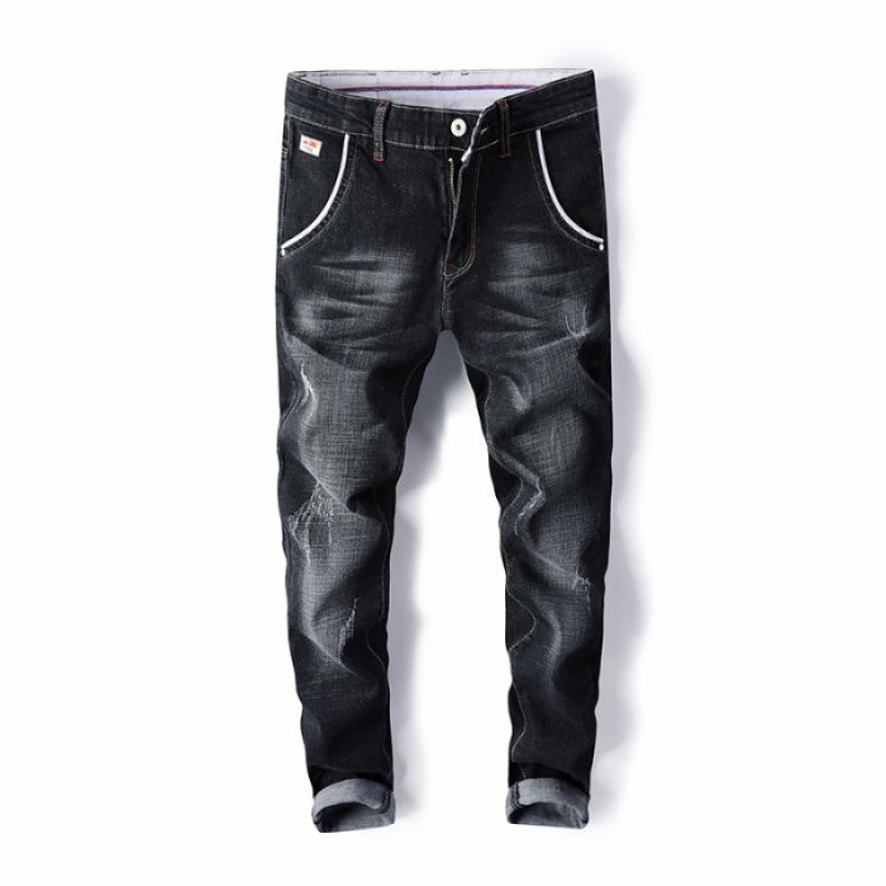 Jeans Men's Slim Fit Spring New Style Men Casual Elasticity Slimming Skinny Pants Korean-style Trend Trousers