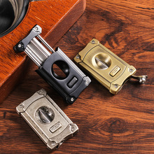 JF-JV002 metal cigar cutter perforated Cuban cigar multifunctional new stainless steel metal classic cigar gift box