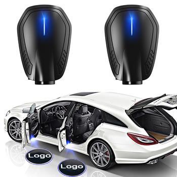 2 sztuk akumulatorowa lampa Led drzwi samochodu laserowy projektor z Logo cień duch światła bezprzewodowy samochód akcesoria laserowe godło lampy zestawy dla bmw tanie i dobre opinie Snyrobys CN (pochodzenie) Światło na powitanie built-in battery (rechargeable)