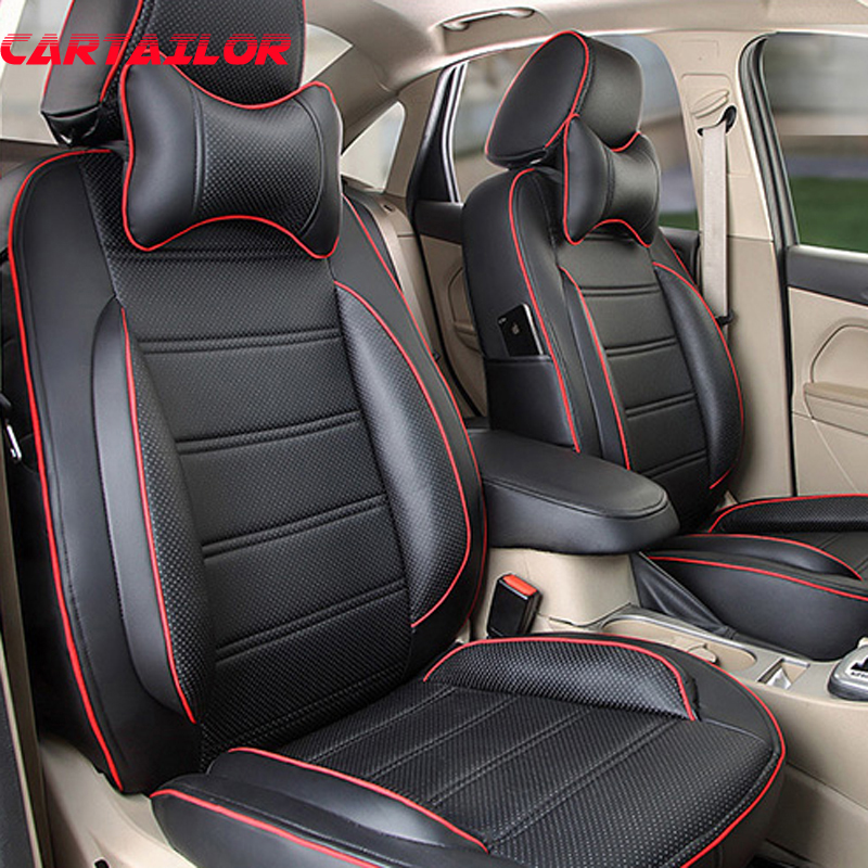 CARTAILOR PU Leather Car Seat Cover for <font><b>VOLVO</b></font> <font><b>XC90</b></font> <font><b>2016</b></font> Seat Covers Cars Interior <font><b>Accessories</b></font> Set Black Seat Cushion Protector image