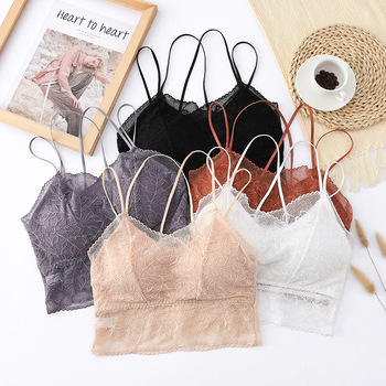 Women Sexy Lace Bra Underwear Wrap-around Strapless Gathered Strap Bralette Tube Top Lingerie Cover Up Plus Size Intimate Wear lace underwear wrap around lace with coasters inside sexy bottoming cross anti glare beauty back strapless bra tube top