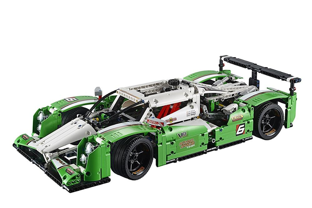 City Technic The 24 hours Race Car and Off-road Motorcycles Bricks Model Compatible legoed 42039 Building Blocks Kids Toys gifts image