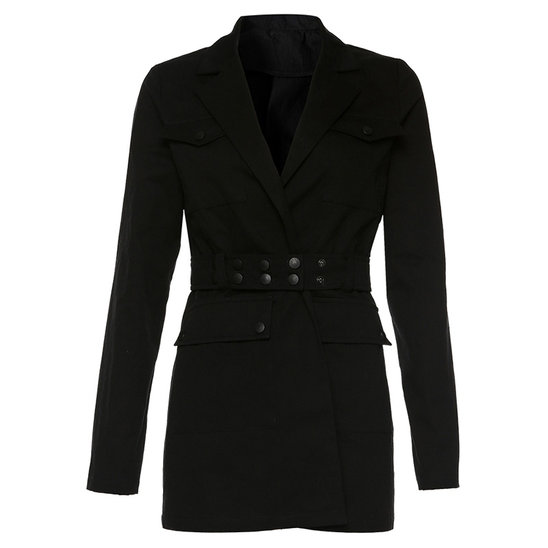 Women Jacket Long Black Blazer Lady Long Sleeve Blazer Formal Jacket Womens Blazers Long Sleeve Ladies Business Jackets II50XZ