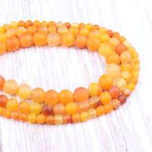 Frosted yellow Stripes Natural?Stone?Beads?For?Jewelry?Making?Diy?Bracelet?Necklace?4/6/8/10/12?mm?Wholesale?Strand