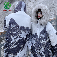 Coat Windbreaker-Jacket Hooded Oversized Warm-Fur-Collar Winter Fashion Thicken Cotton