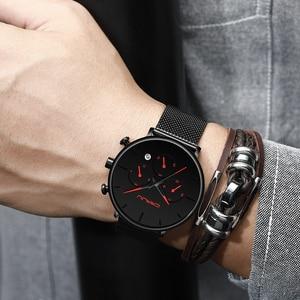 Image 5 - Relogio Masculino CRRJU Mens Business Dress Watches Luxury Casual Waterproof Sport Watch Men 3 Sub Dial Quartz Slim Mesh Watch