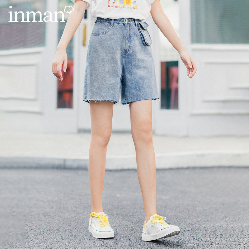 INMAN 2020 New Arrival Leisure Loose Personality With Waist Pack Half Length Pant