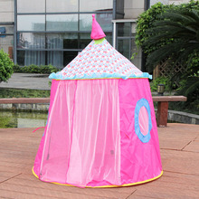 Kid Tent House Portable Princess Castle 120*110CM Present Hang Flag Children Teepee Tent Play Tent Birthday Christmas Gift yard space theme toy tent kids game house baby play tent child gifts castle children teepee kid tent