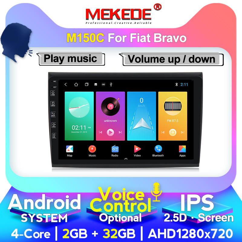 MEKEDE Android IPS DSP 8 Core For Fiat Bravo 2007 2008 2009 2010 2011 2012 Car Radio Multimedia Video Player Navigation GPS